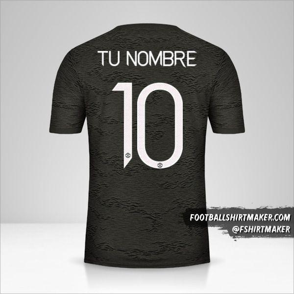 Jersey Manchester United 2020/21 Cup II número 10 tu nombre