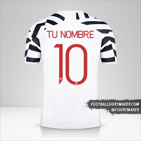 Jersey Manchester United 2020/21 Cup III número 10 tu nombre