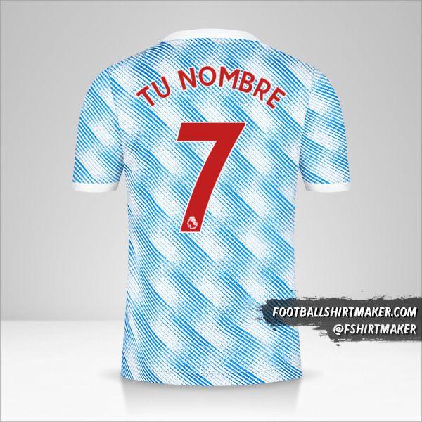 Jersey Manchester United 2021/2022 II número 7 tu nombre