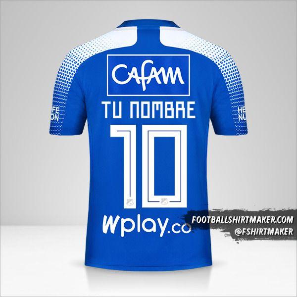 Jersey Millonarios FC 2020 número 10 tu nombre