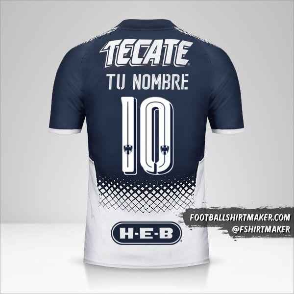 Jersey Monterrey 2017/18 número 10 tu nombre