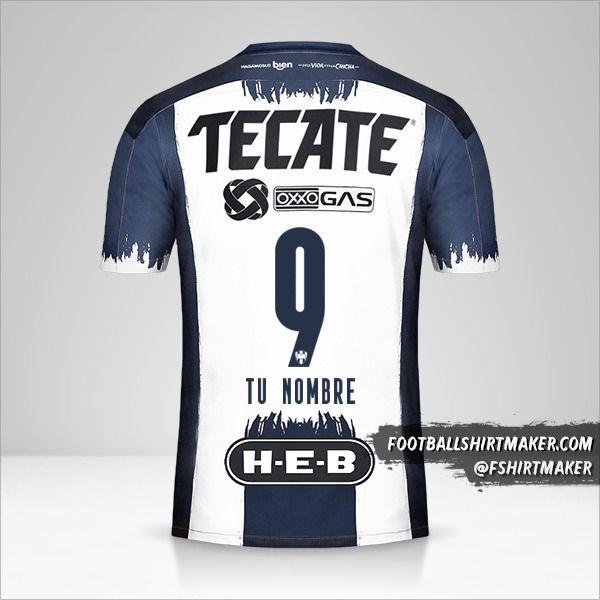 Jersey Monterrey 2020/21 número 9 tu nombre