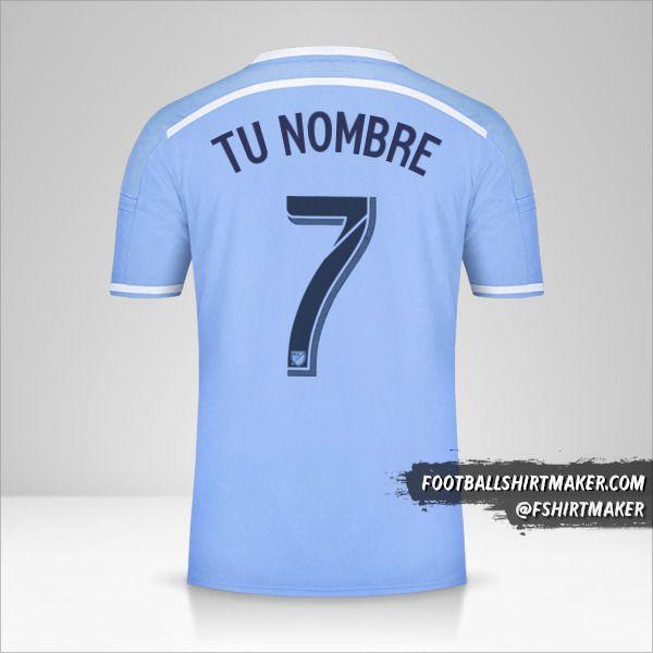 Jersey New York City FC 2015/16 número 7 tu nombre