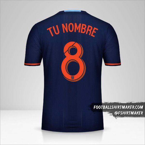 Jersey New York City FC 2016/17 II número 8 tu nombre
