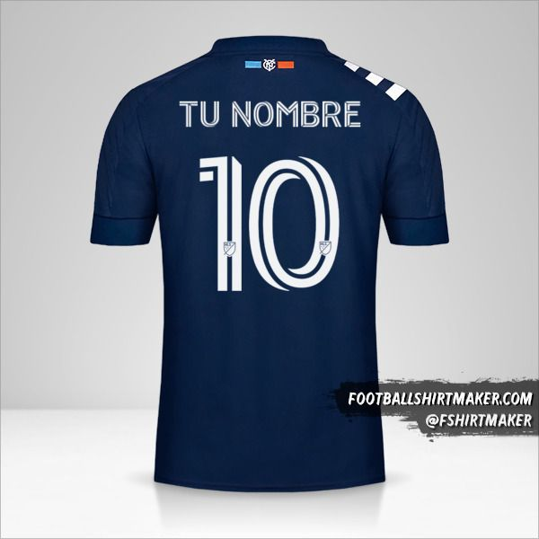Jersey New York City FC 2020 II número 10 tu nombre