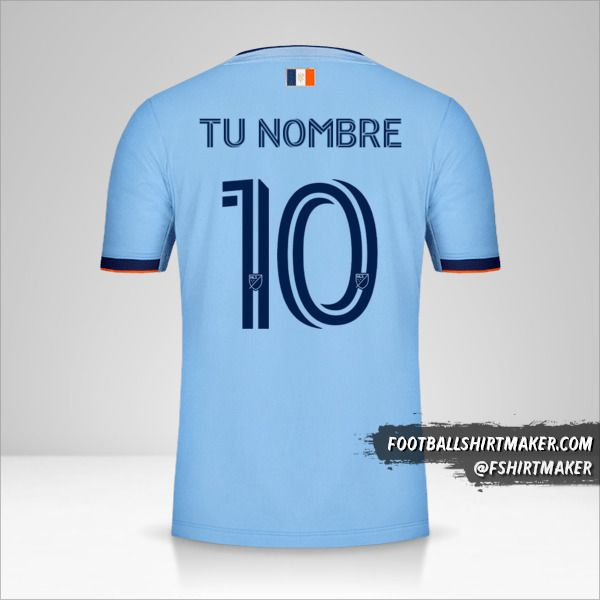 Jersey New York City FC 2020 número 10 tu nombre