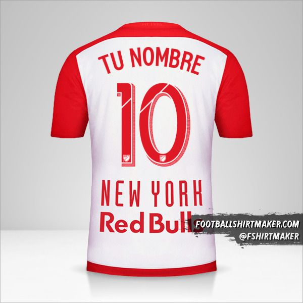 Jersey New York Red Bulls 2015/16 número 10 tu nombre