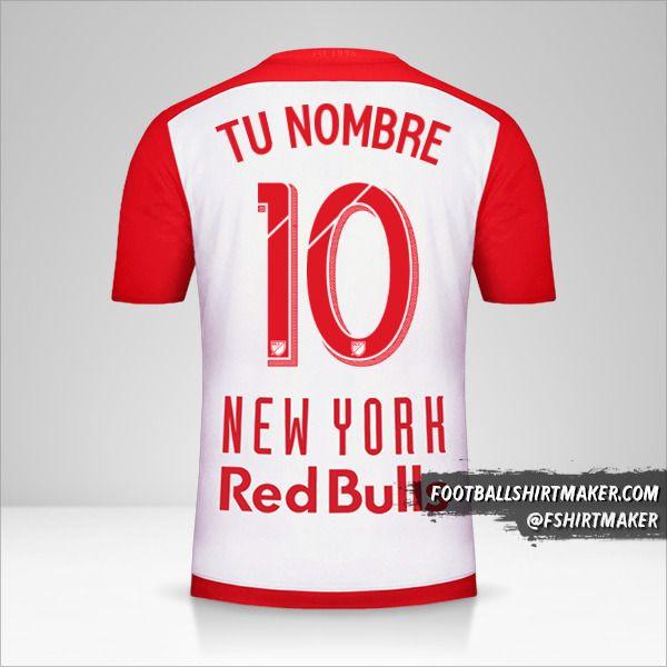 Jersey New York Red Bulls 2015/16 número 10 tu nombre