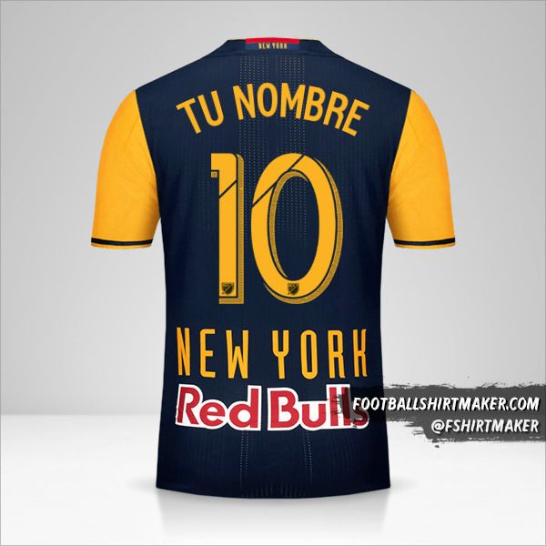 Jersey New York Red Bulls 2016/17 II número 10 tu nombre