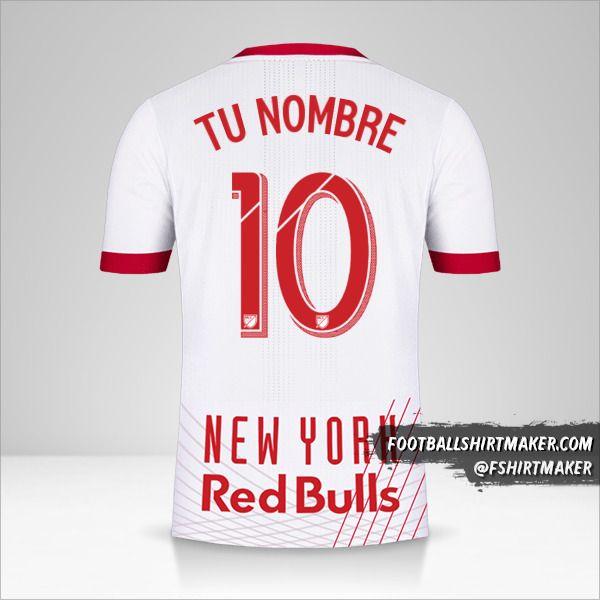 Jersey New York Red Bulls 2017/18 número 10 tu nombre