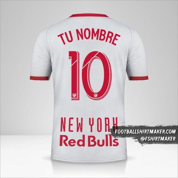 Jersey New York Red Bulls 2019 II número 10 tu nombre