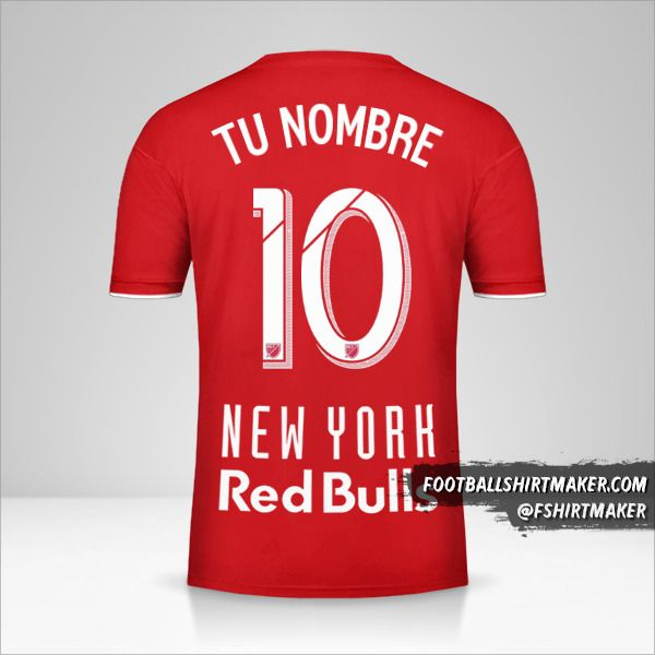 Jersey New York Red Bulls 2019 número 10 tu nombre