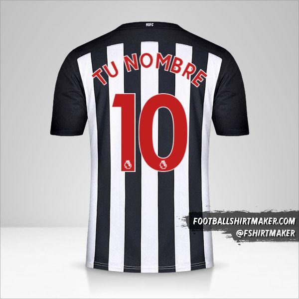 Jersey Newcastle United FC 2020/21 número 10 tu nombre