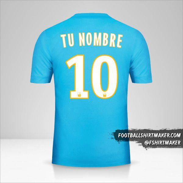 Jersey Olympique de Marseille 2017/18 II número 10 tu nombre