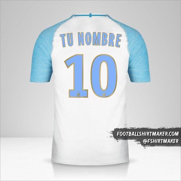 Jersey Olympique de Marseille 2018/19 número 10 tu nombre