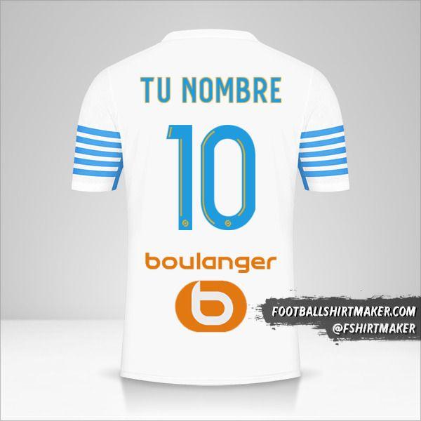 Jersey Olympique de Marseille 2021/2022 número 10 tu nombre
