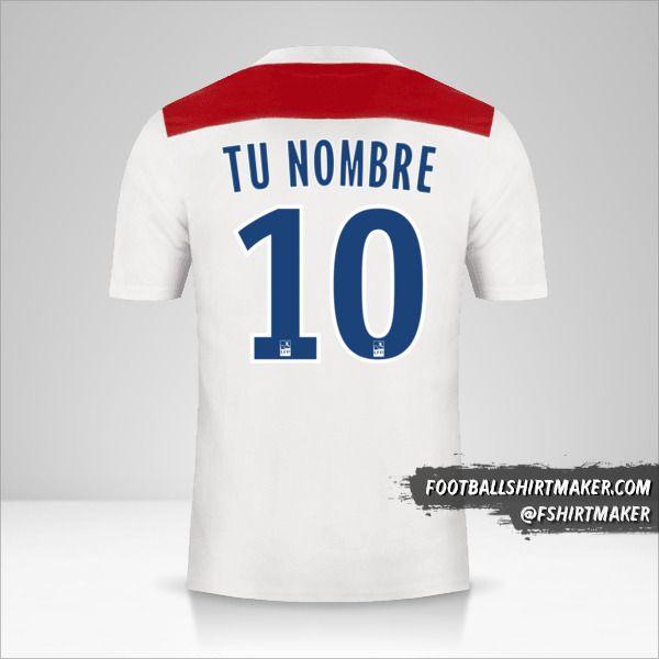Jersey Olympique Lyon 2018/19 número 10 tu nombre