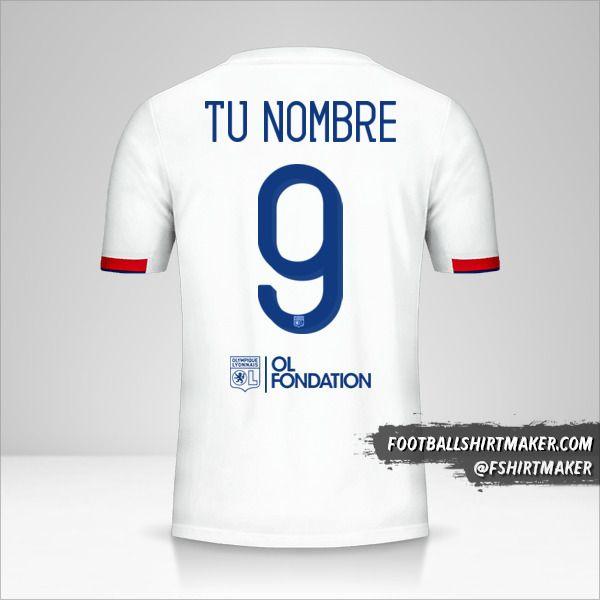 Jersey Olympique Lyon 2019/20 Cup número 9 tu nombre
