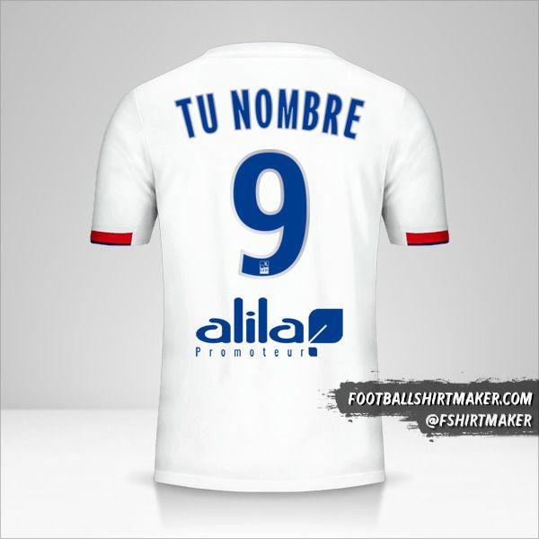 Jersey Olympique Lyon 2019/20 número 9 tu nombre