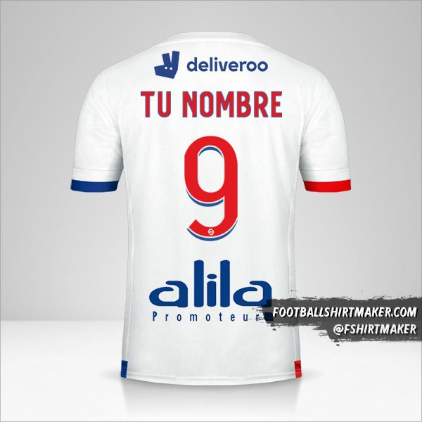 Jersey Olympique Lyon 2020/21 número 9 tu nombre