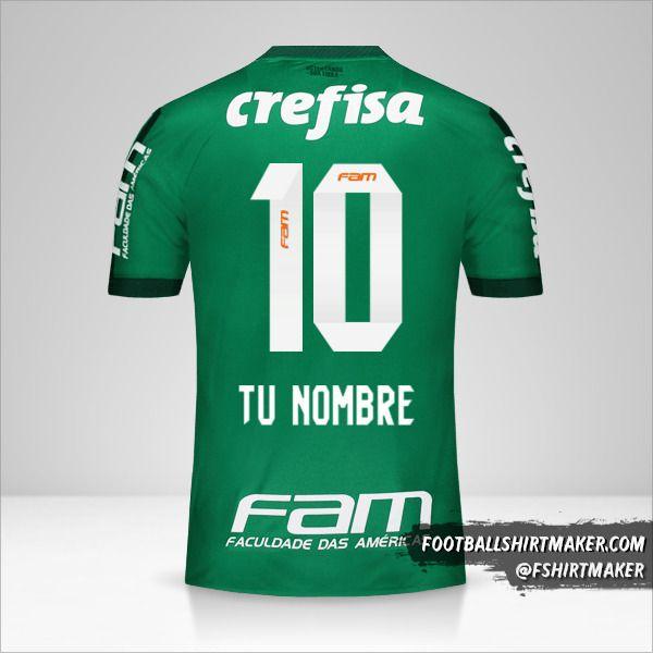 Jersey Palmeiras 2017 número 10 tu nombre