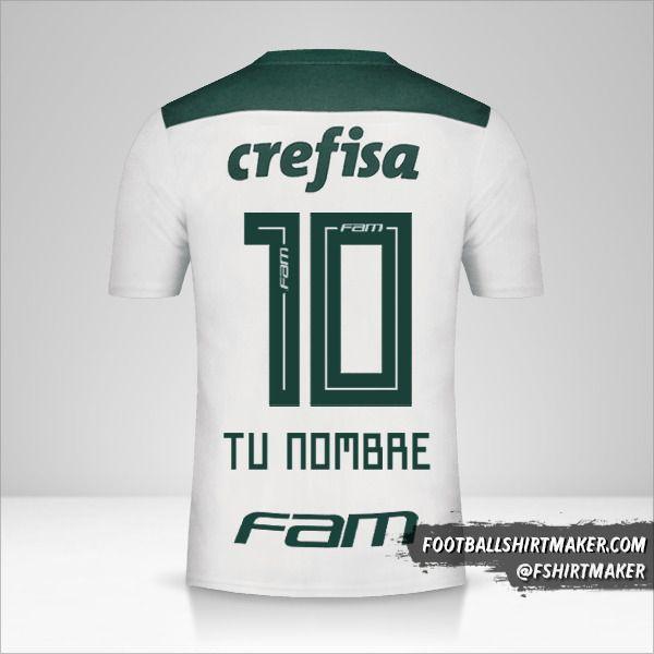 Jersey Palmeiras 2018 II número 10 tu nombre
