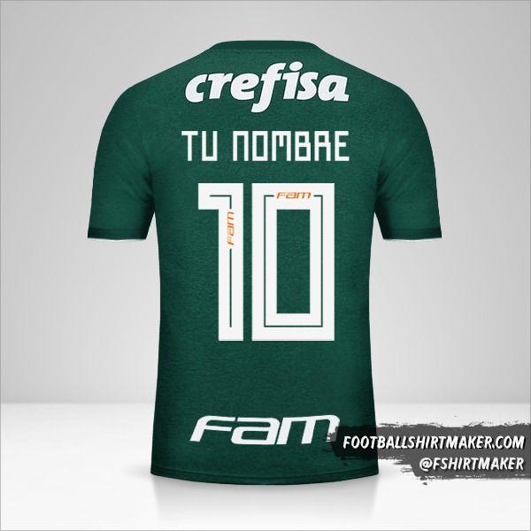 Jersey Palmeiras 2018 número 10 tu nombre