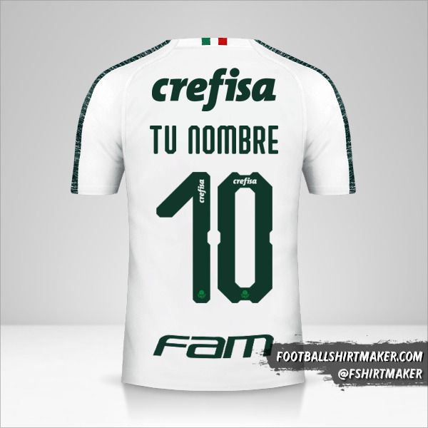 Jersey Palmeiras Libertadores 2019 II número 10 tu nombre