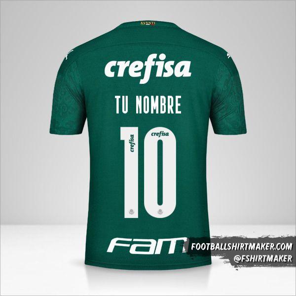 Jersey Palmeiras Libertadores 2020 número 10 tu nombre