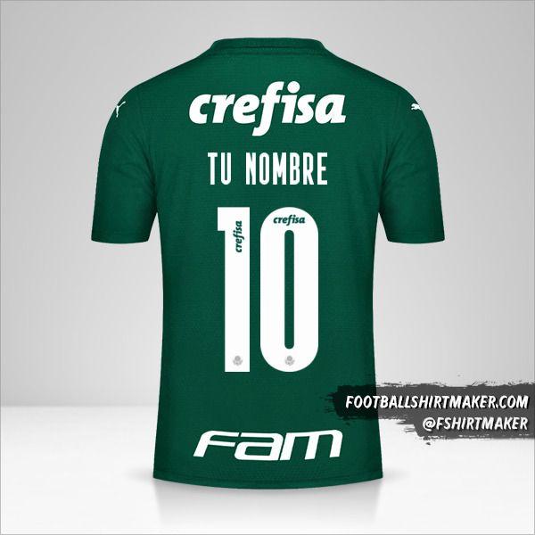 Jersey Palmeiras Libertadores 2021 número 10 tu nombre
