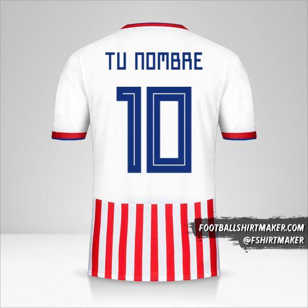 Jersey Paraguay 2018/19 número 10 tu nombre