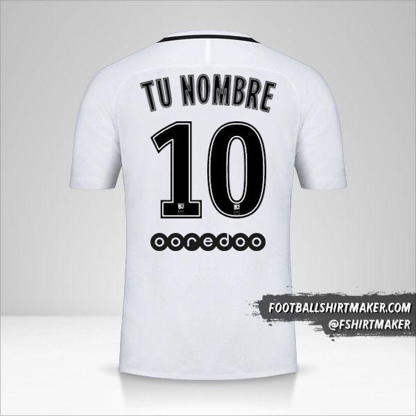 Jersey Paris Saint Germain 2016/17 III número 10 tu nombre