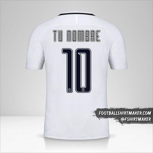 Jersey Paris Saint Germain 2016/17 Cup III número 10 tu nombre