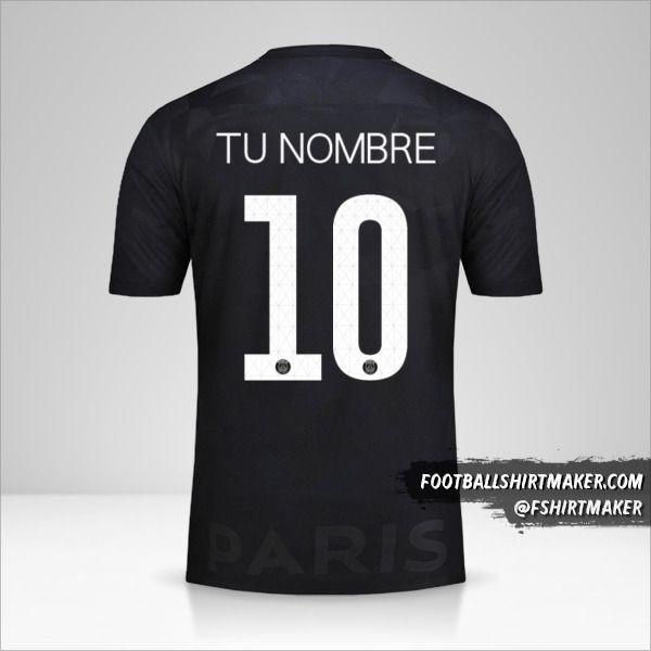 Jersey Paris Saint Germain 2017/18 Cup III número 10 tu nombre