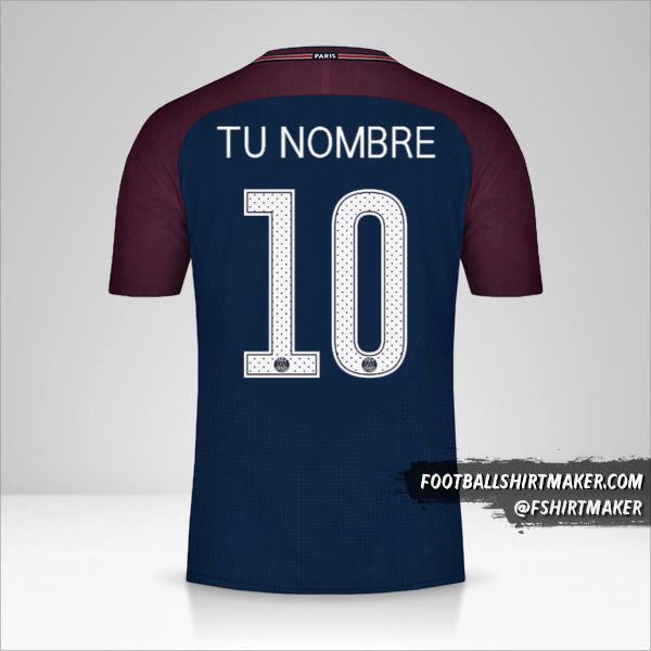 Jersey Paris Saint Germain 2017/18 Cup número 10 tu nombre