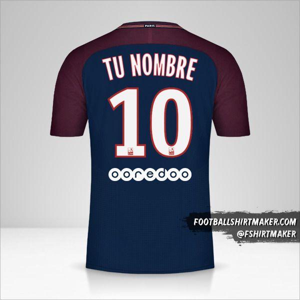 Jersey Paris Saint Germain 2017/18 número 10 tu nombre
