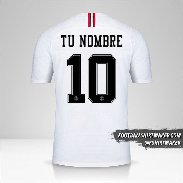 Jersey Paris Saint Germain 2018/19 Jordan II número 10 tu nombre