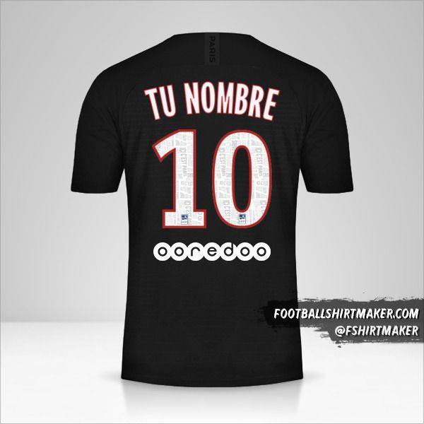 Jersey Paris Saint Germain 2019/20 IV número 10 tu nombre