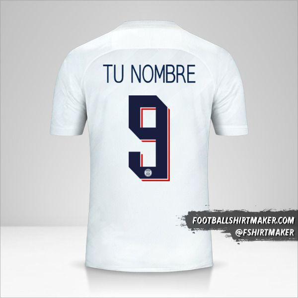 Jersey Paris Saint Germain 2019/20 Cup III número 9 tu nombre