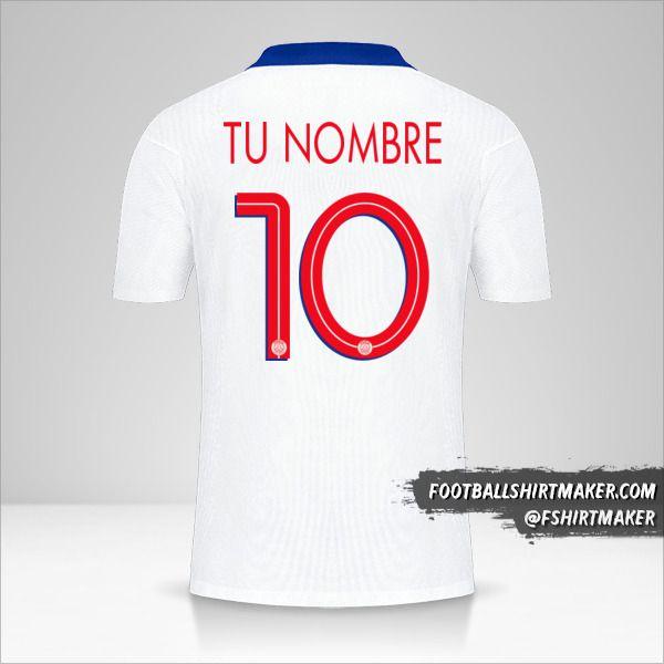Jersey Paris Saint Germain 2020/21 Cup II número 10 tu nombre