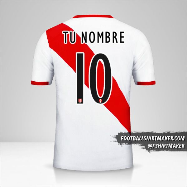 Jersey Peru 2015/16 número 10 tu nombre
