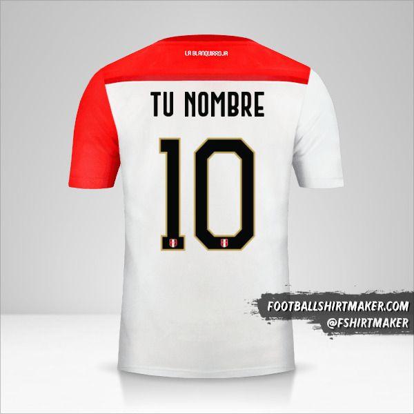 Jersey Peru 2018/19 número 10 tu nombre