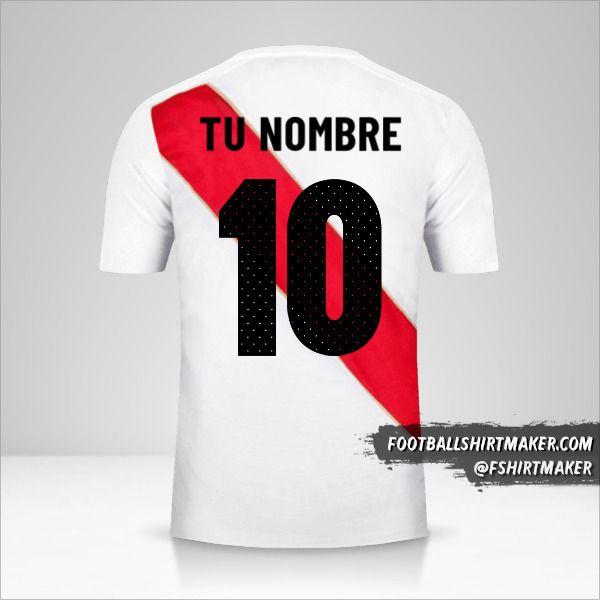 Jersey Peru 2018 número 10 tu nombre