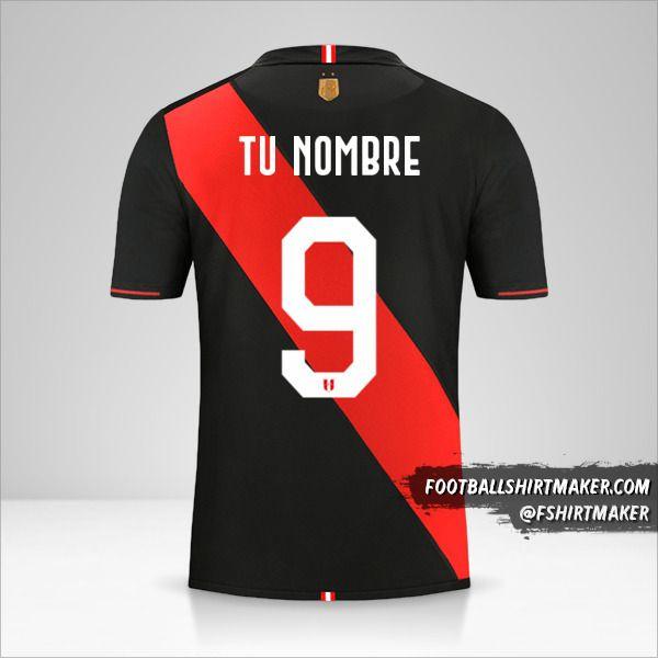 Jersey Peru Copa América 2019 II número 9 tu nombre