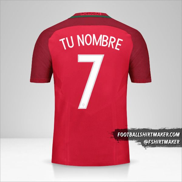 Jersey Portugal 2016 número 7 tu nombre