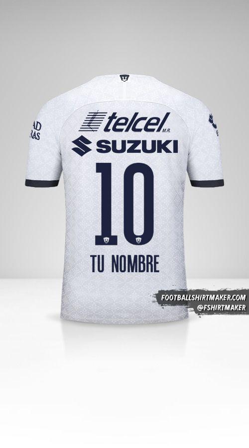 Jersey Pumas UNAM 2019/20 número 10 tu nombre