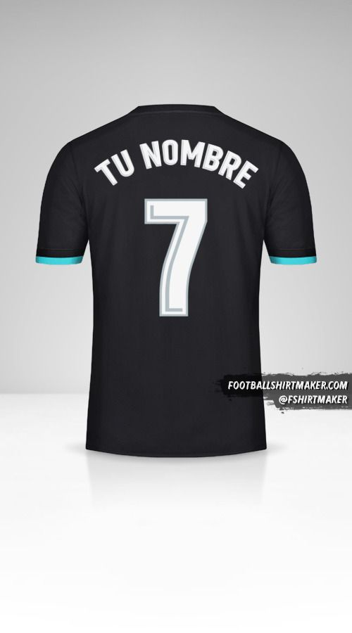 Jersey Real Madrid CF 2017/18 II número 7 tu nombre
