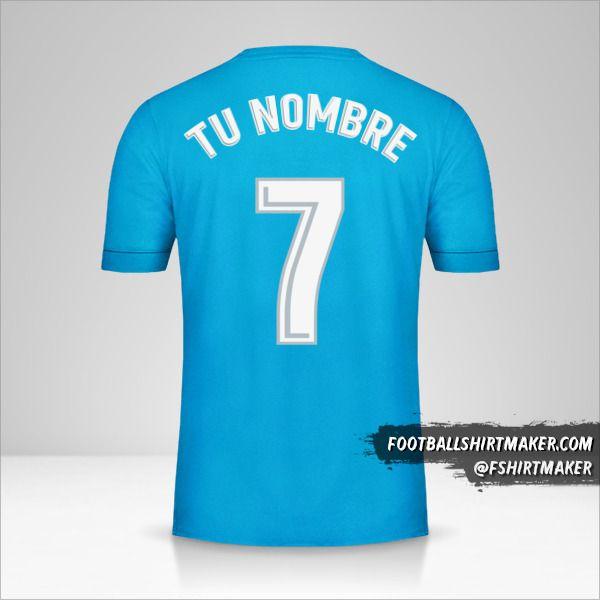 Jersey Real Madrid CF 2017/18 III número 7 tu nombre