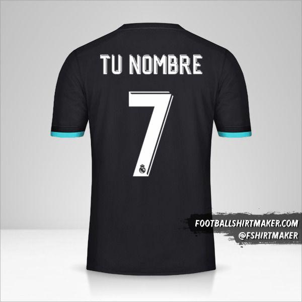 Jersey Real Madrid CF 2017/18 Cup II número 7 tu nombre