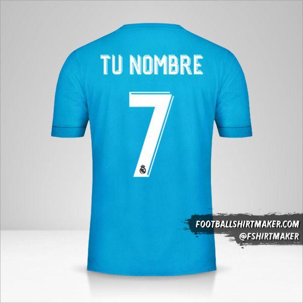 Jersey Real Madrid CF 2017/18 Cup III número 7 tu nombre
